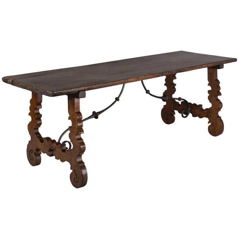 18th Century Spanish Baroque Table or Refractory Table