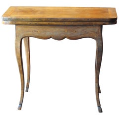 18th Century Period Louis XV Walnut Game Table