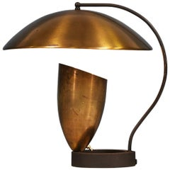 California Modernist Bronze Table Lamp by Robert Bulmore