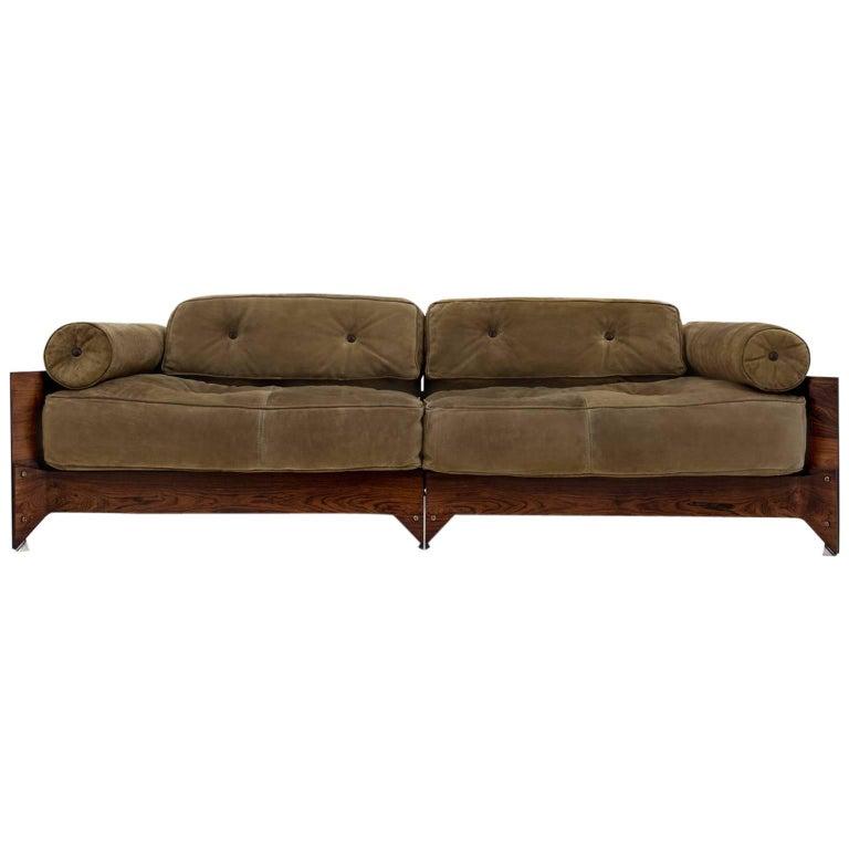 Rosewood Brazilian Midcentury 'Brasiliana' Sofa by Jorge Zalszupin, 1960s