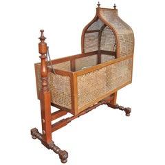 19th Century English Baby Crib or Rocker