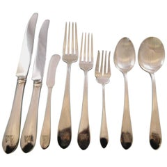 Gorham Plain by Gorham Sterling Silver Flatware Set for 12 Service 95 pcs Dinner
