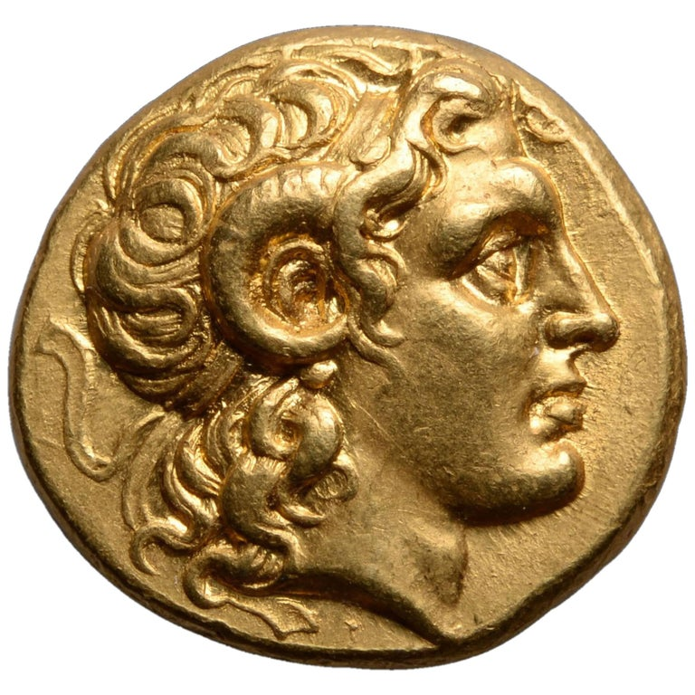 Ancient Greek Gold Stater Coin of Alexander the Great, 297 BC For Sale