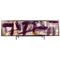 Pratt Credenza, Art Door Sideboard, Custom Hand Painted Doors