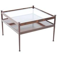 Scandinavian Glass and Wood Coffee Table 1960s
