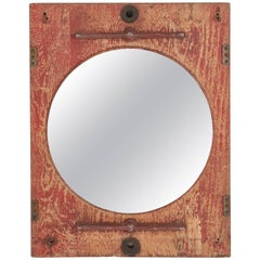 Late 19th Century Painted French Mirror