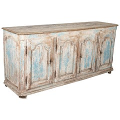 18th Century Provencal Painted Enfilade Buffet