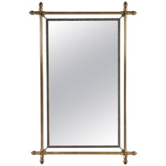 Large Metal and Brass Mirror from Late 19th Century France