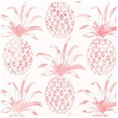 Piña Pintada Designer Wallpaper in Flamingo 'Red, Pink and White'