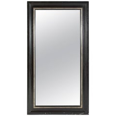 Late 19th Century Large Ebonized Mirror from France