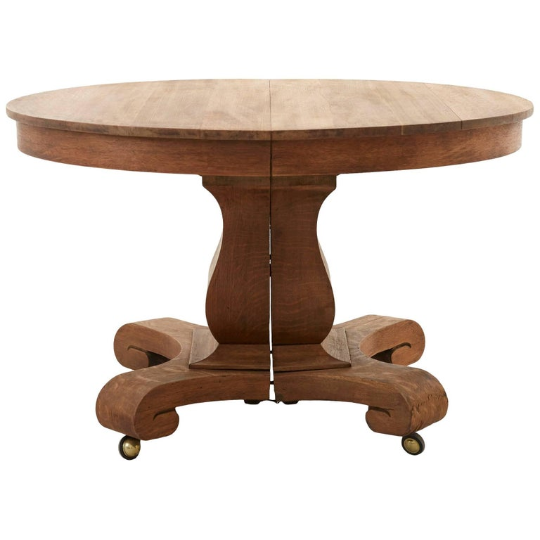 pedestal value round old dining oak table antique