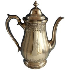 Navarre by Watson Sterling Silver Coffee Pot Chased #9826 (#2143) Hollowware