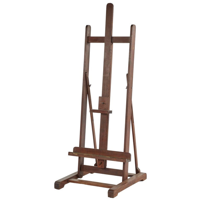 Late 19th Century  English Wooden Artist's Easel  For Sale