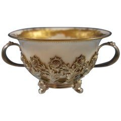 Chrysanthemum by Tiffany Sterling Silver Bouillon Cup with Gold Liner Hollowware