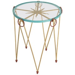 French Mid-Century Modern and Whimsical Side Table