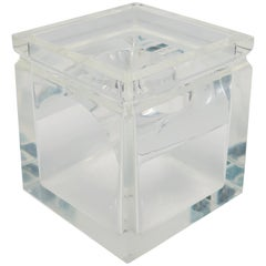 1970s Lucite Tissue Box in the Style of Charles Hollis Jones