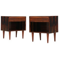 Midcentury Rosewood Night Stands by Westnofa