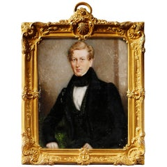 Portrait Miniature of Sir George Douglas, Baronet by J.C.D. Engleheart, 1821