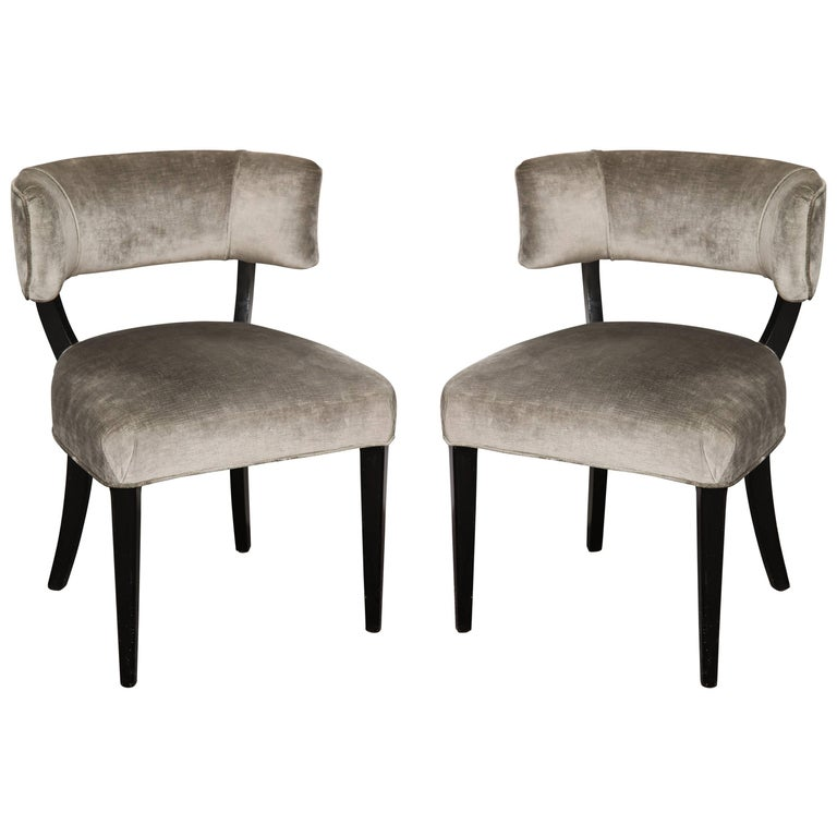 Klismos style upholstered side chairs for sale at 1stdibs for Side chairs for sale