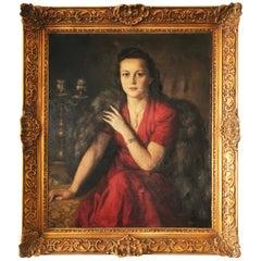 Huge Woman Portrait by František Vítovský