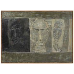 Oil Painting of Busts from France Circa 1950