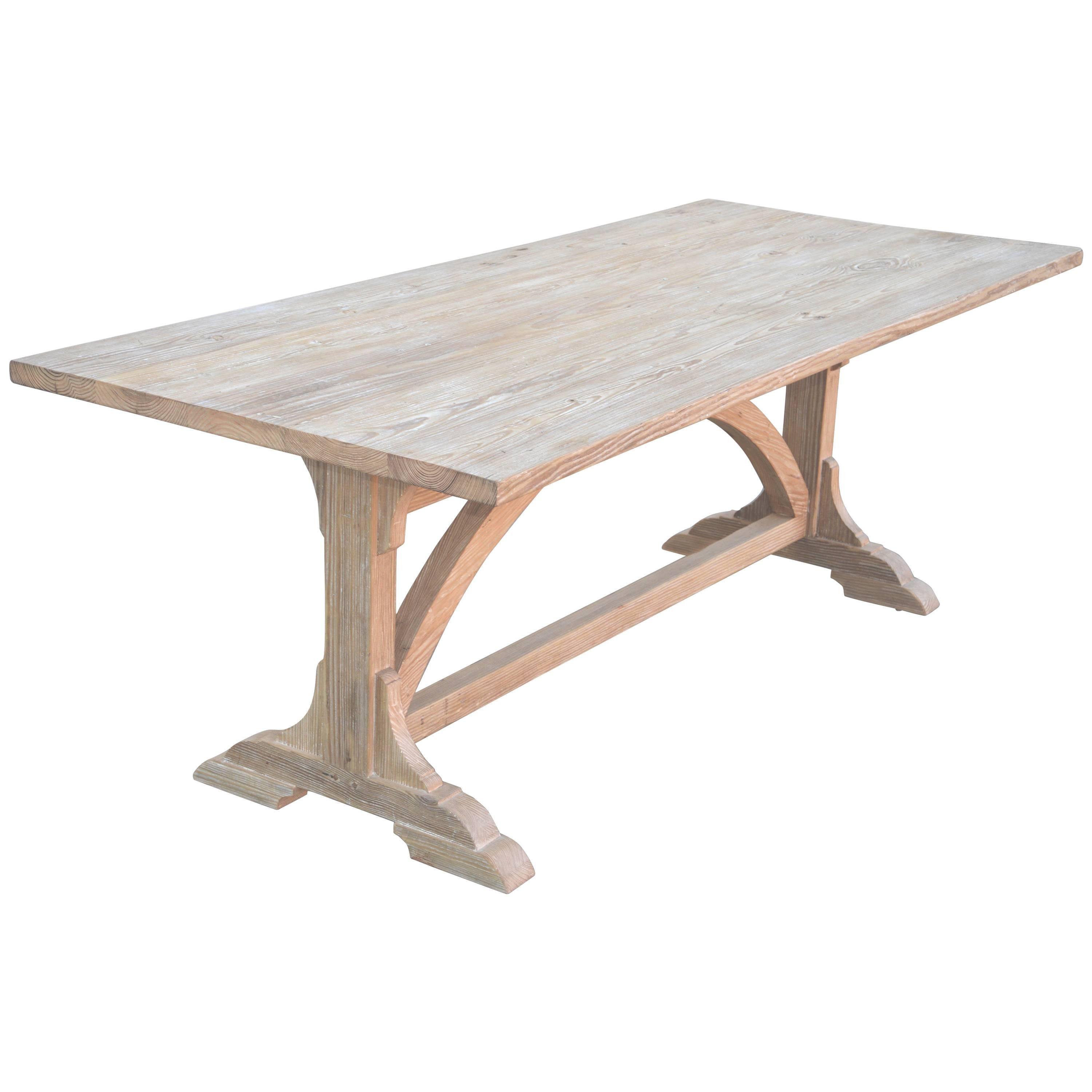 Expandable Farm Table in Vintage Heart Pine, Made to Order by Petersen Antiques