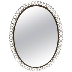 Josef Frank Style Oval Mirror