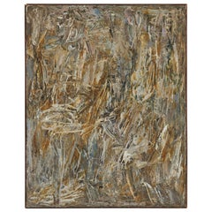Mid-Century Abstract Painting by Charles Maussion