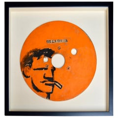 Orange Robert Loughlin Original Painting on Wood