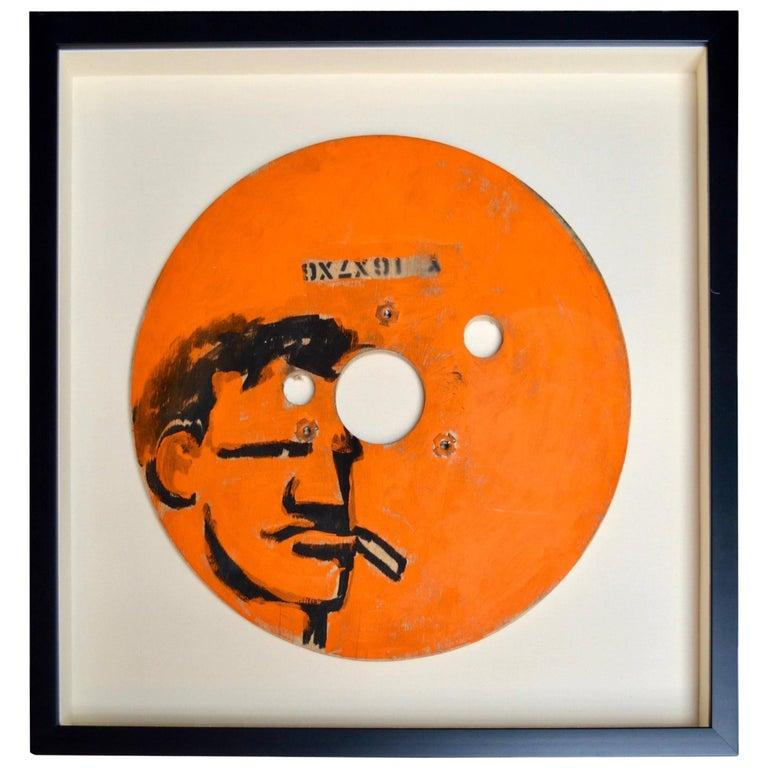 Orange Robert Loughlin Original Painting on Wood