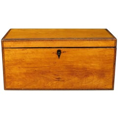 A Very Fine George III Inlaid Satinwood Tea Caddy, England Circa 1800