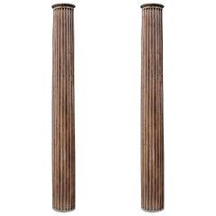 Pair of 19th C. Decorative Wooden Columns