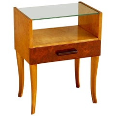 Swedish Moderne Side Table in Golden Flame Birch circa 1940