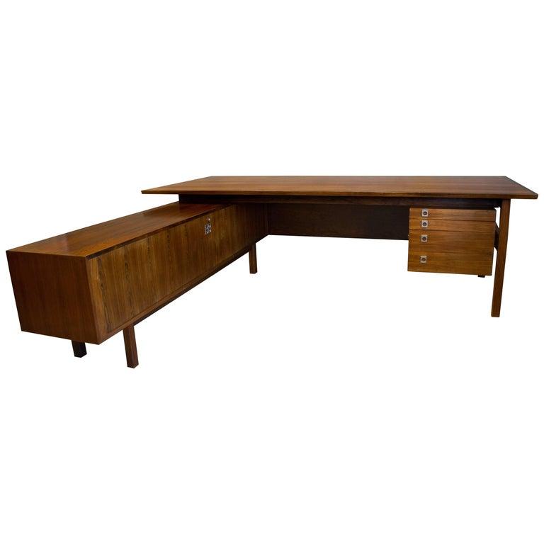 Arne Vodder, Rosewood Midcentury Executive Desk, Danish, 1960