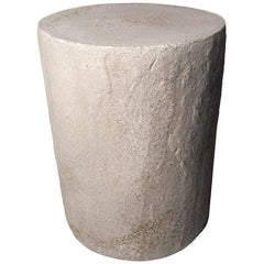 Cast Resin 'Dock' Side Table, Aged Finish by Zachary A. Design