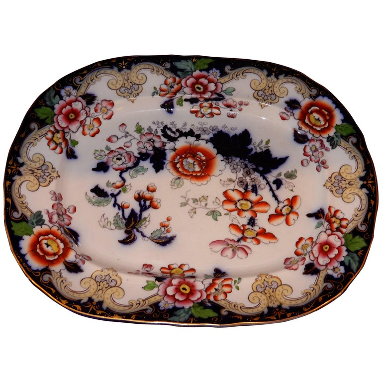 Antique Platter from Charles Meigh and Son of Staffordshire, England, circa 1850 For Sale