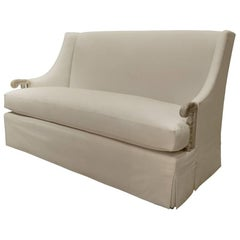 Gascogne Settee with Waterfall Skirt