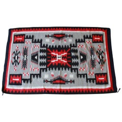 Vintage Authentic Native American Navajo Wool Rug