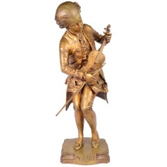 19th Century Bronze of Mozart, Signed P. Dubois