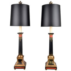 Pair of Neoclassical Style Lamps, Italy, 1950s