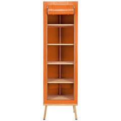 Visser and Meijwaard Truecolors Cabinet in Orange PVC Cloth with Zipper Opening