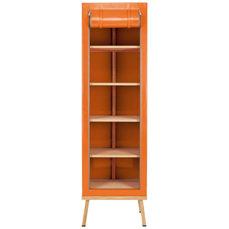 Visser and Meijwaard Truecolors Cabinet in Orange PVC Cloth with Zipper Opening