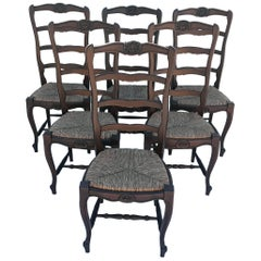 Six Country French Provincial Dining Chairs