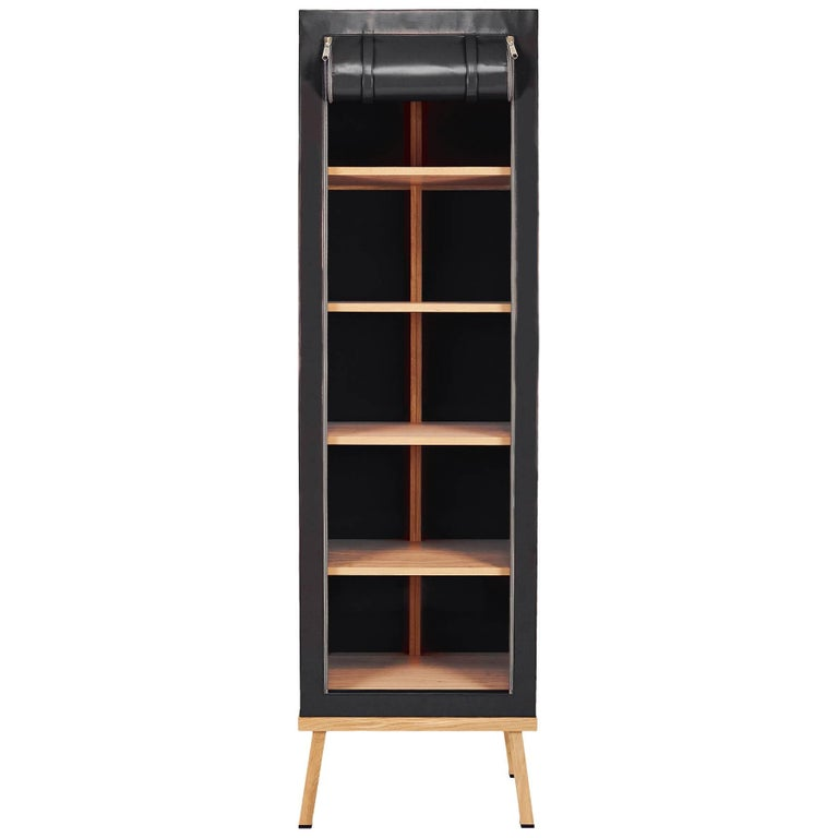 Visser and Meijwaard Truecolors Cabinet in Black PVC Cloth with Zipper Opening