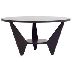 Wedge Coffee Table End Table in Hand-Carved Nero Marquina Marble by Nathan Hunt