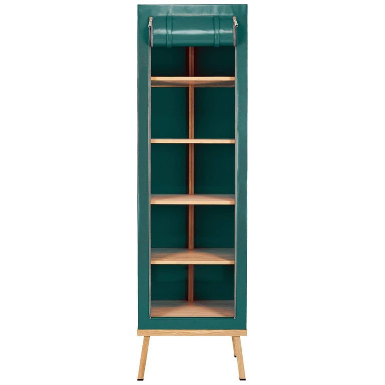 Visser and Meijwaard Truecolors Cabinet in Green PVC Cloth with Zipper Opening For Sale