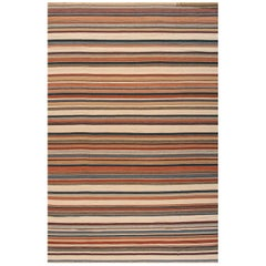 21st Century Contemporary Oversize Striped Turkish-Style Kilim Rug