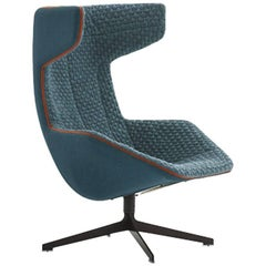 Moroso Take a Line for a Walk Lounge Chair in Quickship with Swivel Base