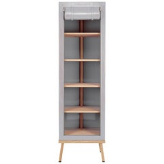 Visser and Meijwaard Truecolors Cabinet in Grey PVC Cloth with Zipper Opening
