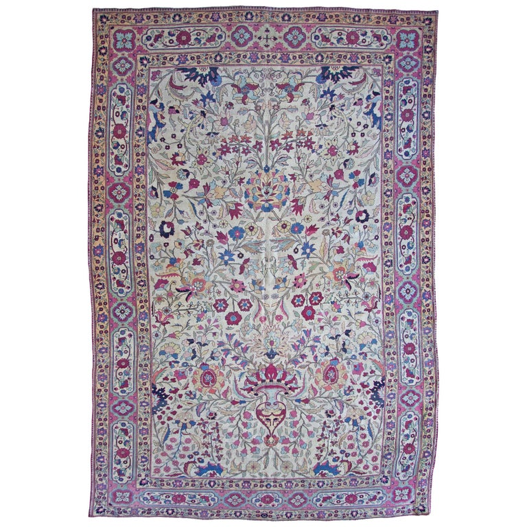 Old Kirman Carpet, Aubusson Style For Sale At 1stdibs